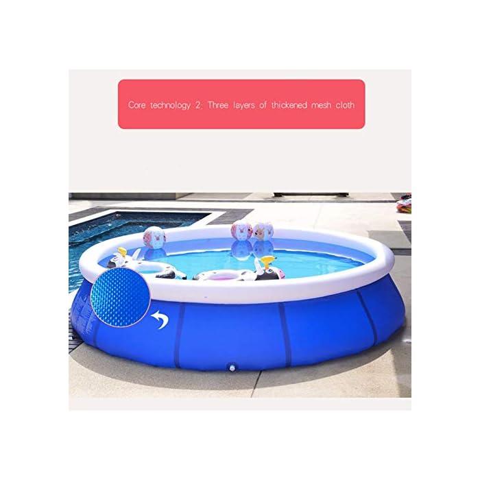 Fácil de instalar: nuestra piscina es fácil de instalar, y llene la piscina inflable con agua unos diez minutos. Diferentes capacidades: las piscinas de diferentes tamaños pueden contener diferentes números de personas, 6 pies x 29 pulgadas pueden contener 2 niños; 8 pies x 30 pulgadas pueden contener 3 niños; 10 pies x 30 pulgadas pueden contener 4 ~ 5 niños; 12 pies x 30 pulgadas pueden contener 5 ~ 6 niños. Por favor elige el tamaño que necesitas. Duradero: nuestras piscinas exteriores están hechas de una capa intermedia de PVC de protección ambiental de alta calidad, protección ambiental e inofensiva. Puede disfrutar de la piscina con su familia en el terreno plano del patio trasero.