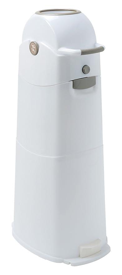 Asalvo 4031L - Contenedor de pañales, tamaño grande, color blanco