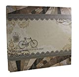IDULL Vintage Scrapbook Kits 12x12 with Scrapbooking Supplies and Gift Storage Box (Grey, Retro)