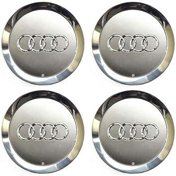 4 insignias originales OEM para tapacubos 4E0601165A 145 mm para Audi A6 C6 S6 A8 D3 S8: Amazon.es: Bricolaje y herramientas