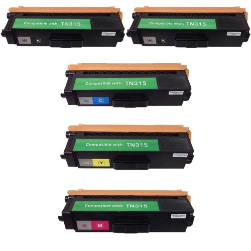 HI-VISION HI-YIELDS ® Compatible Toner Cartridge Replacement for Brother TN315 (2 Black, 1 Cyan, 1 Yellow, 1 Magenta, 5-Pack)