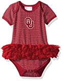 Two Feet Ahead NCAA Oklahoma Sooners Children Girls Pin Dot Tutu Creeper,18 Mo,Crimson