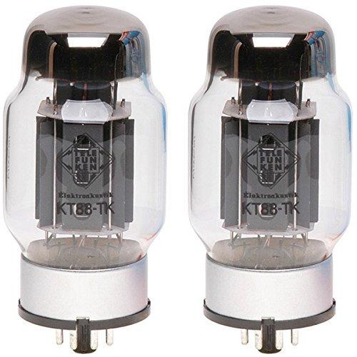TELEFUNKEN Elektroakustik Matched Pair of KT88-TK | Black Diamond Series 7 Pin Replacement Vacuum Tube