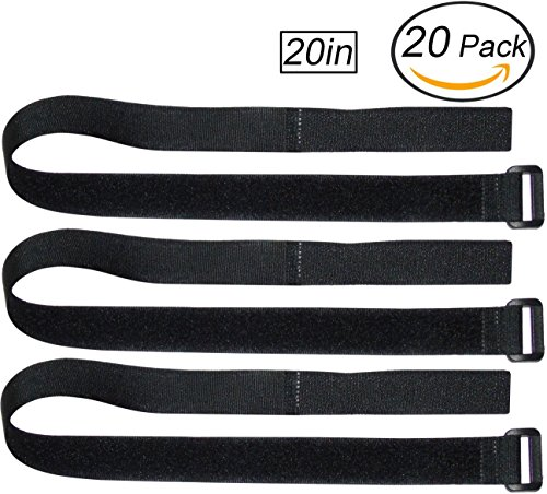 Ceeyali Reusable Hook and Loop Fastening Cable Ties Cable Straps for Home Office Tablet PC TV Electronics Wires Organizer Management (20 Pack 20in/50cm) (Pc Tablet Inch 20)