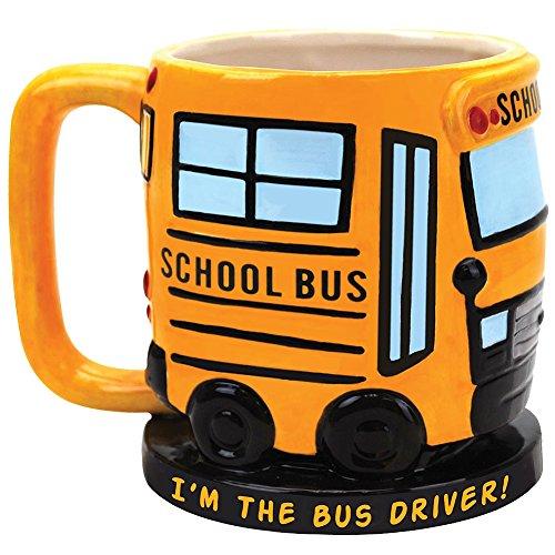 (I'm The School Bus Driver Sculpted Ceramic Coffee Mug - Great Fun Gift Idea)