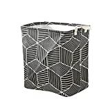 Fityle New Household Cotton Linen Laundry Container Prismatic Cosmetic Boxes,for Home,Office,Bedroom,Toys - Black
