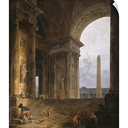 (CANVAS ON DEMAND Hubert (1733-1808) Robert Wall Peel Wall Art Print Entitled The Obelisk, 1787-88 20