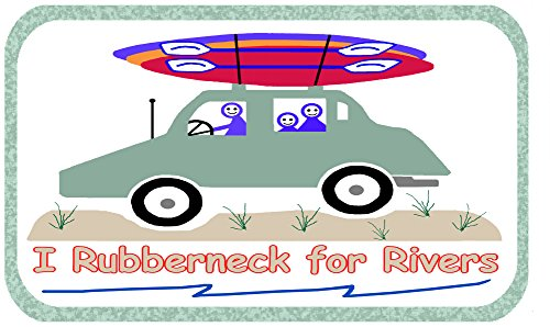 Think Rain Designs RUBBERNECK for Rivers Kayaking & Paddling Window Decal
