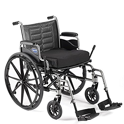"""Invacare T420RDAP/T93HCP Tracer IV Wheelchair with Desk-Length Arms, 20"""" x 18"""" 350 lb, Black/Silver Vein"""