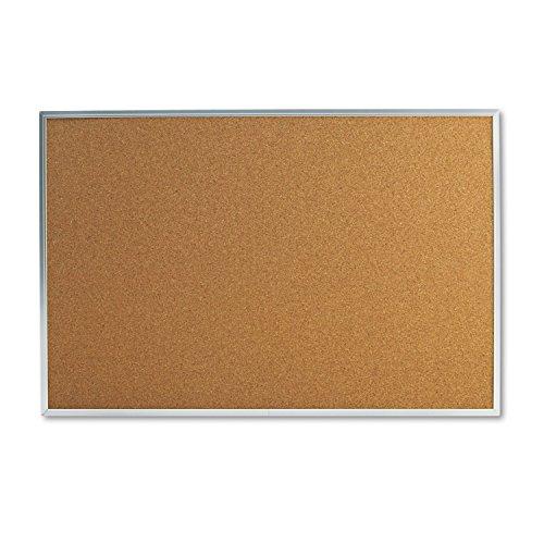 universal-43613-bulletin-board-natural-cork-36-x-24-satin-finished-aluminum-frame