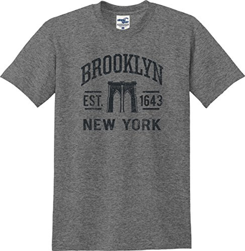 Utopia Sport Brooklyn New York Established 1643 T-Shirt (S-5X) (XX-Large, Graphite ()