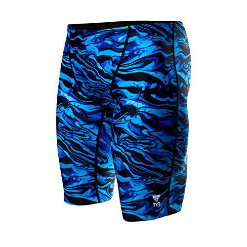 TYR Men's Miramar Jammer Swimsuit, Blue, 32 by TYR