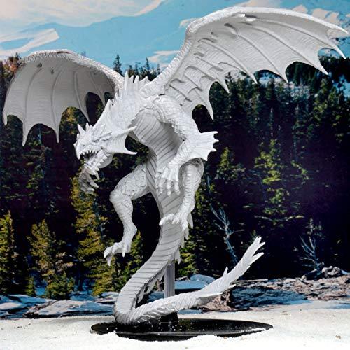 WizKids Pathfinder Deep Cuts Unpainted Miniatures: Gargantuan White Dragon by WizKids (Image #5)