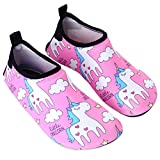 Anddyam Girls and Boys Quick-Dry Outdoor Water Shoes Aqua Socks Shoes for Beach Pool Surf Yoga Exercise (Little Kid (3-4 Years), Pink)