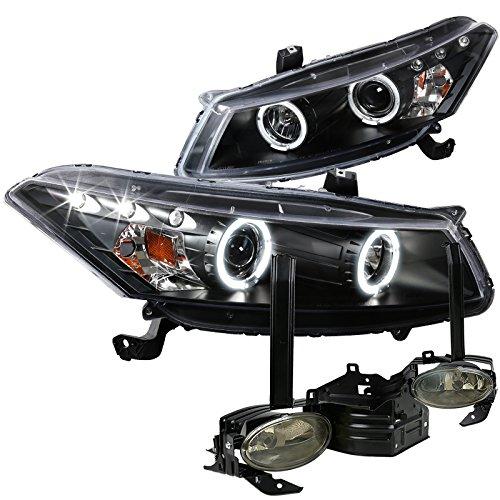 (Spec-D Tuning LF2LHP-ACD082JMG-TM Fog Headlight (Coupe LED Halo Projector Black Smoke))