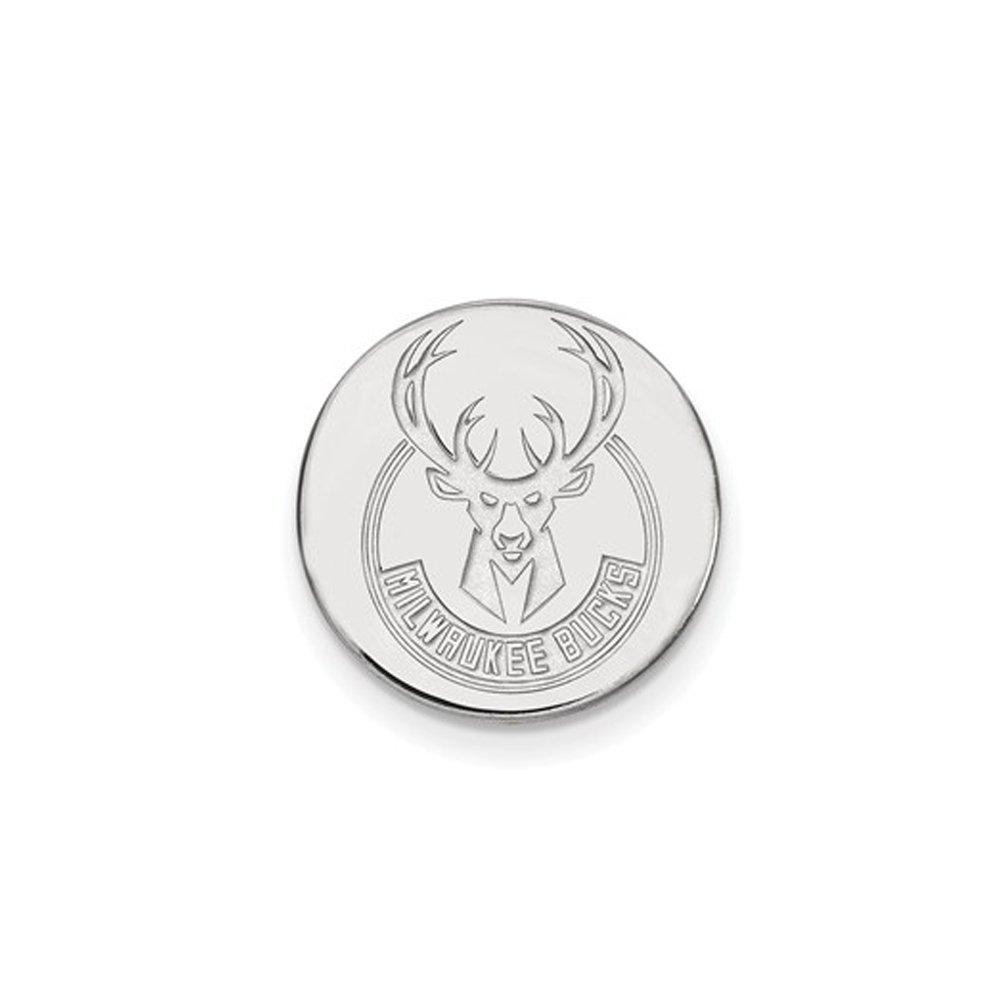 NBA Milwaukee Bucks Lapel Pin in 14K White Gold
