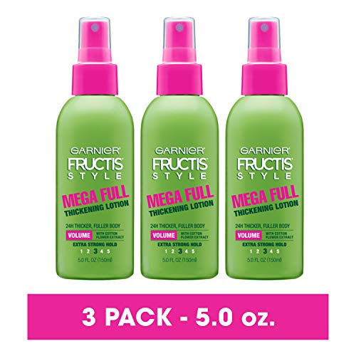 Garnier Fructis Style Mega Full Thickening Lotion All Hair Types, 5 Ounce (Pack of 3) (Packaging May Vary)