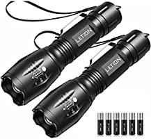 LETION UV Flashlight 2 in 1 [2 Pack],UV Light LED Black Light flashlights with 500LM Highlight & 4 Mode & Waterproof IPX...