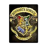 Harry Potter School Hogwarts Custom Design Woolen Blanket Fleece Blanket Indoor and Outdoor Blanket Travel Blankets 58x80 Inches (Large)
