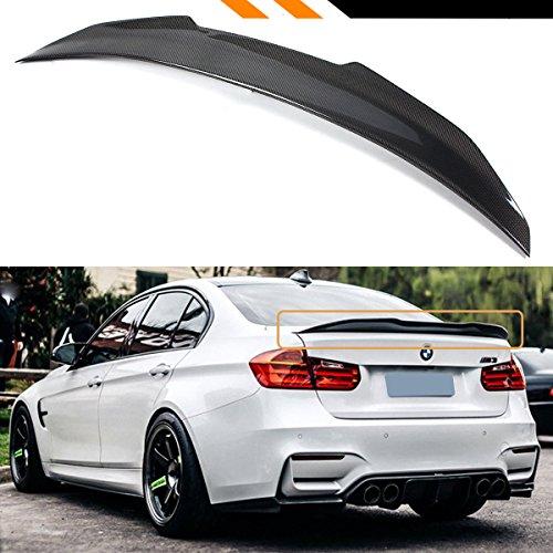 Cuztom Tuning For 2013-2018 BMW F30 330i 335i 340i & F80 M3 Sedan Carbon Fiber High-Kick P Style Duckbill Trunk Spoiler (Fiber 330i Carbon)