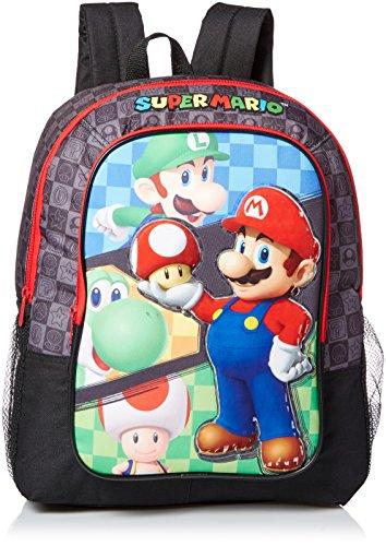 Nintendo Boys Mario Backpack Black
