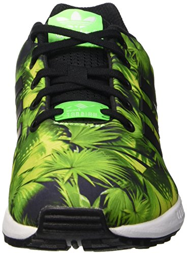 Mixte Basses Enfant black Baskets green Zx Adidas Multicolore Flux wf6RnPq
