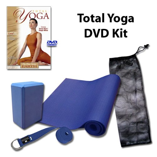 Yoga DVD Kit LIMITED time offer - Total Yoga: Earth with 4mm mat (DVD, mat, block, bag and strap)