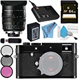 Leica M-P (Typ 240) Digital Rangefinder Camera (Black) 10773 Summilux-M 24mm f/1.4 ASPH. Lens + 72mm 3 Piece Filter Kit + 64GB SDXC Card + Card Reader + Deluxe Cleaning Kit + Fibercloth Bundle