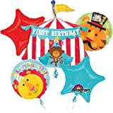Fisher Price Happy Birthday Circus Animals Mylar Foil Balloon Bouquet Set
