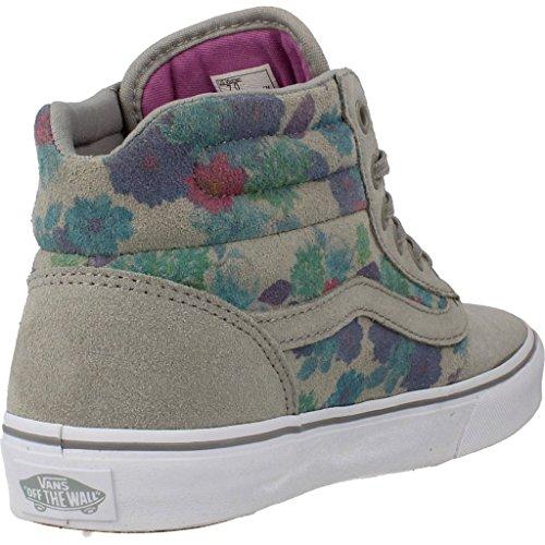 Calzado deportivo para mujer, color gris , marca VANS, modelo Calzado Deportivo Para Mujer VANS MILTON HI Gris gris