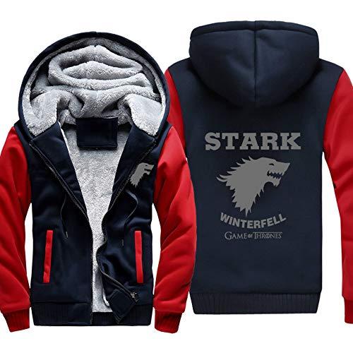 Cappuccio Hooded Unisex Thrones Con 10 Velluto winter Cappotto Zip Sweatshirt Of Uomo Is Coming Spesso Game Felpe Giacche Invernali OYa4qAxBw