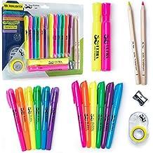 Mr. Pen- 18 Pc Highlighter Set, 6 Gel Bible Highlighter Non Bleed Assorted Color, 6 Narrow Highlighter, 2 Wide Highlighter, 2 Highlighter Pencil, Highlighter for Journaling, Bible Supplies, Study Kit