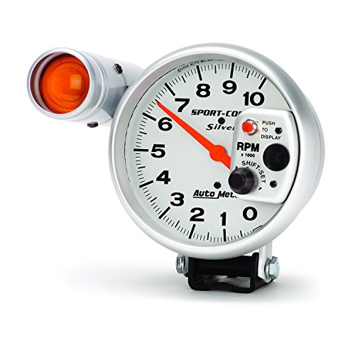 Auto Meter 3911 Sport-Comp Silver Shift-Lite Tachometer by Auto Meter (Image #1)