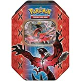 Pokemon TCG: Legends of Kalos Collector's Tin (Yveltal)   Collectible Trading Card Set   Includes 4 Booster Packs, 1 Ultra Rare Foil Yveltal-EX Card plus BONUS Online Code Card