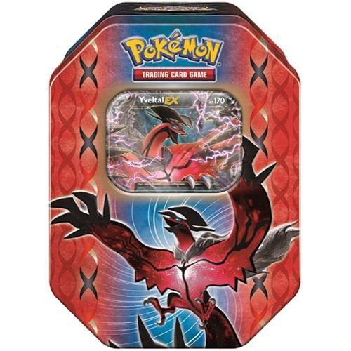 of Kalos Collector's Tin (Yveltal) | Collectible Trading Card Set | Includes 4 Booster Packs, 1 Ultra Rare Foil Yveltal-EX Card plus BONUS Online Code Card ()