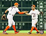 Carlos Correa & Jose Altuve Houston Astros 2016 MLB Action Photo