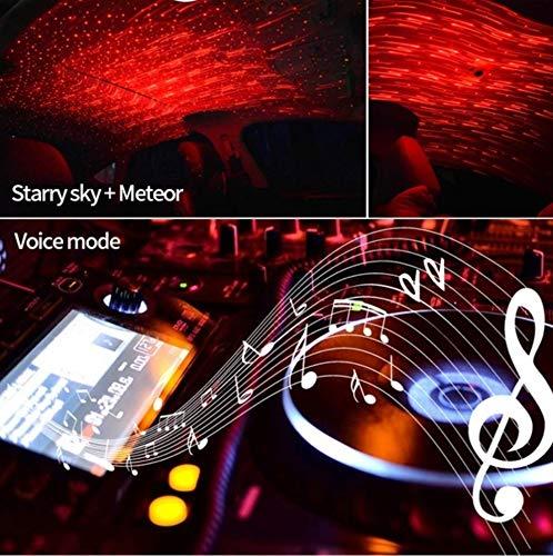 Estrella De Techo LED Luz Ambiente Meteor Cielo Rojo Galaxy Lámpara Interior De Coche Hogar