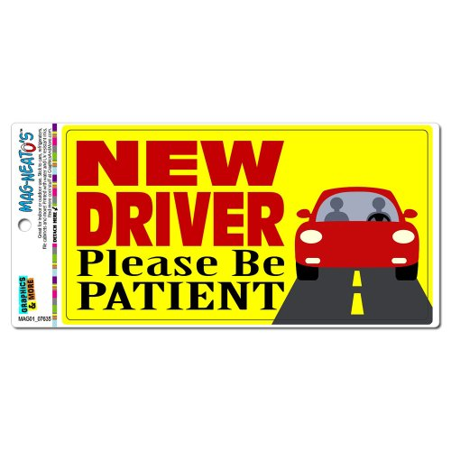 New Driver Please Be Patient MAG-NEATO'S(TM) Automotive Car Refrigerator Locker Vinyl Magnet – Go4CarZ Store