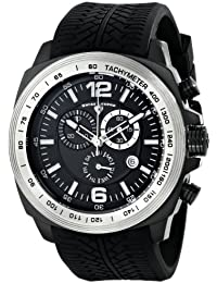 Mens 21046-BB-01-SB Sprinter Analog Display Swiss Quartz Black Watch