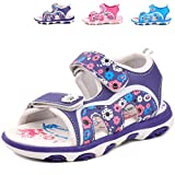 Femizee Girls Outdoor Summer Sandals,Purple,1541 CN22
