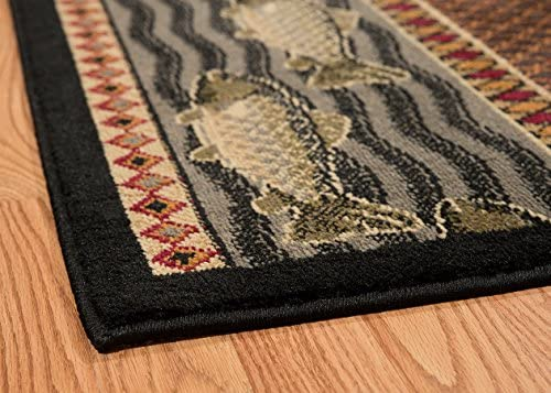 United Weavers of America Affinity Collection River Ridge Indoor Rug – 7ft. 10in. x 10ft. 6in., Multicolor, Machine Made Rug with Jute Backing