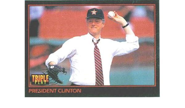Amazoncom 1993 Triple Play 32 President Bill Clinton