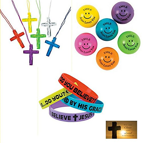 145 Piece Religious Christian Theme Party Favors Gift Bundle Set for (Bible Games For Halloween)