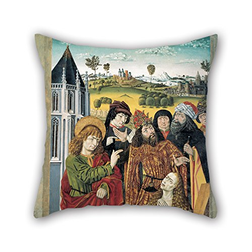 Slimmingpiggy Oil Painting Master Of Saint Nicholas - The Resurrection Of Drusiana Christmas Pillow Cases 18 X 18 Inches / 45 By 45 Cm For Floor Teens Girls Couch Drawing Room Son Seat With Two Sides