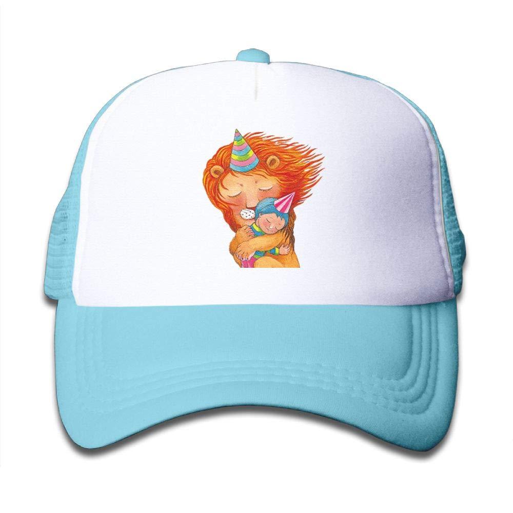 Stityshi Kids Happy Together Printed Baseball Cap Hat Adjustable Mesh Trucker Hats for Boys Girls