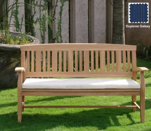 WholesaleTeak Ourdoor 5 Feet Bench Sunbrella Fabric Cushion Bench not Included -Choose Any Sunbrella Fabric