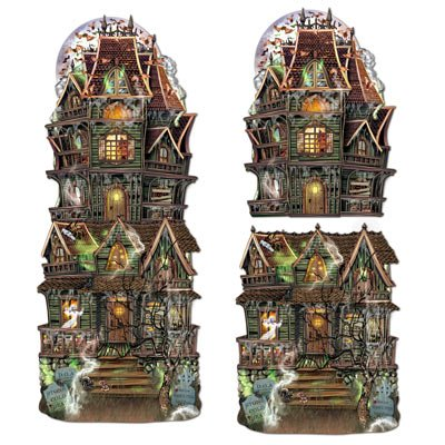 Beistle 2-Pack Jumbo Haunted House Cutouts, 24-1/2-Inch -