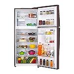 LG 437 L 3 Star Wi-Fi Inverter Linear Frost-Free Double-Door Refrigerator (GL-T432FASN, Amber Steel, Convertible)