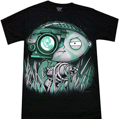 - Family Guy Stewie Griffin Night Scope Adult T-shirt (Small, Black)