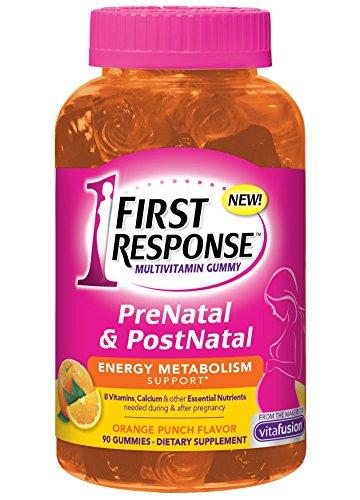 Primera respuesta Prenatal y Postnatal multivitamínico gomoso, cuenta 90